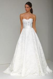 Carrie underwoods monique lhuillier wedding gown is a corset bra image junglespirit Images