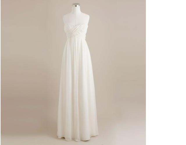 J.Crew a Line Spaghetti Strap Wedding Dress