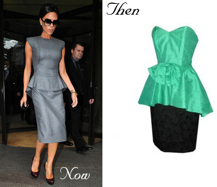 peplum skirt now and then