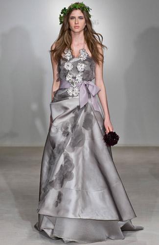 Dove Grey Wedding Gown